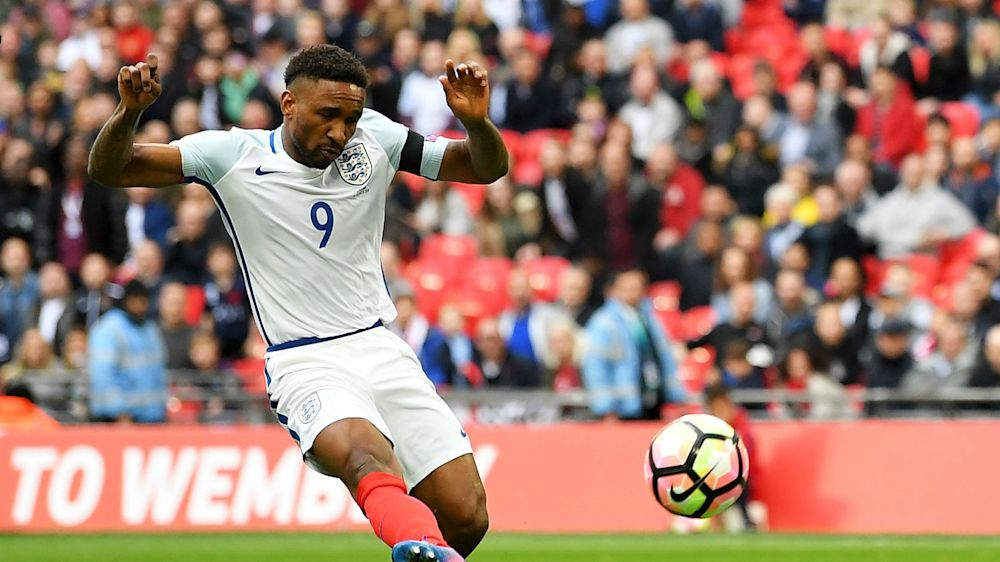 Emotional Defoe back in the goals for England after leading team out with Bradley Lowery