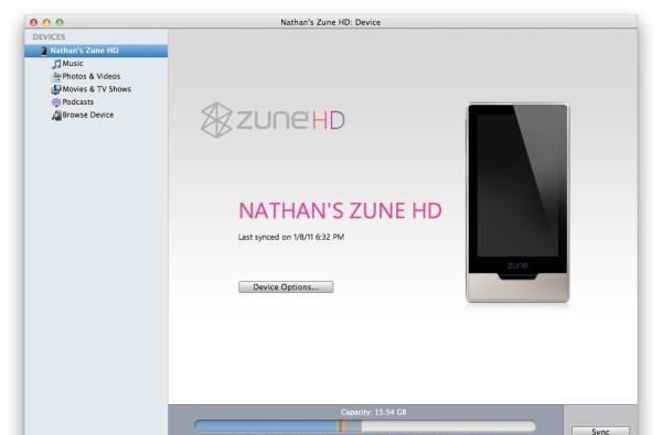 Zune HD Mac support secretly hidden in Windows Phone 7 Connector software