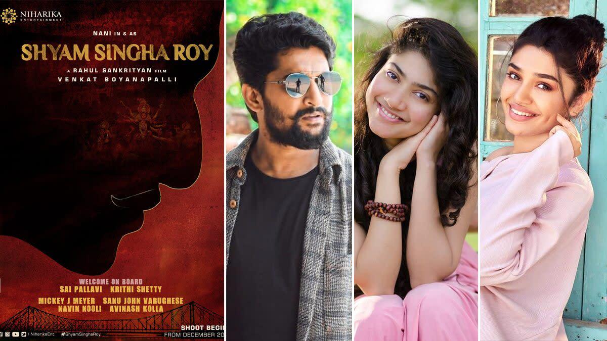 Shyam Singha Roy: Nani, Sai Pallavi, Krithi Shetty To Play Lead Roles! Film To Go On Floors In December