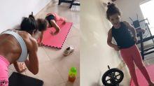 """Após treino, Gracy vai mudar dieta da neta: """"Ovo com a vovó"""""""