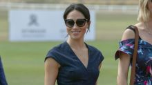 Meghan Markle wore a really fancy denim dress to watch her husband play polo