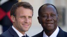 Macron to meet Ivory Coast President Ouattara after election u-turn