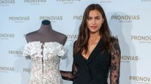 Irina Shayk Attends Barcelona Bridal Week Sporting Emerald Engagement-Like Ring