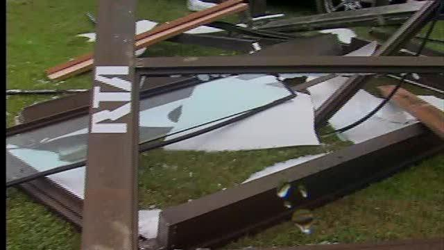 SUV hits Cleveland bus shelter