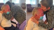 Elderly couple's emotional reunion after being separated by Covid pandemic