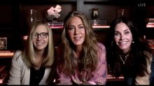 Jennifer Aniston joined by Lisa Kudrow and Courteney Cox for Emmys 'Friends' reunion