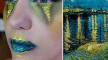 La make-up artist che dipinge sul viso i capolavori della storia