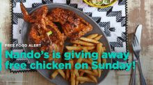 Free chicken this Sunday at Nando's in Ontario!