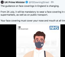 Coronavirus: Government's new messaging on face coverings criticised for promoting 'useless' masks
