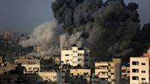 Israeli aircraft strike Gaza after Palestinians fire rockets into Israel
