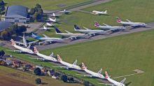 Aerial photos show jumbo jet graveyard of disused British Airways planes grounded by coronavirus
