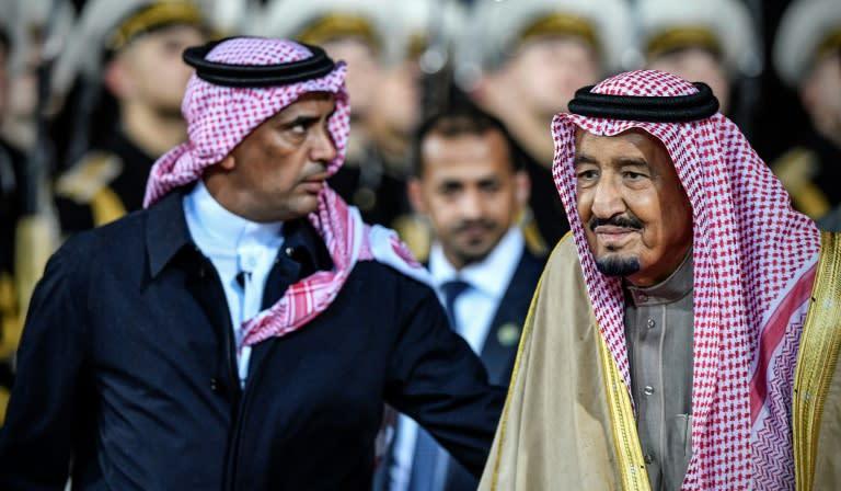 General Abdel Aziz al-Fagham (R) was well known in Saudi Arabia as the personal bodyguard of Saudi Arabia's King Salman