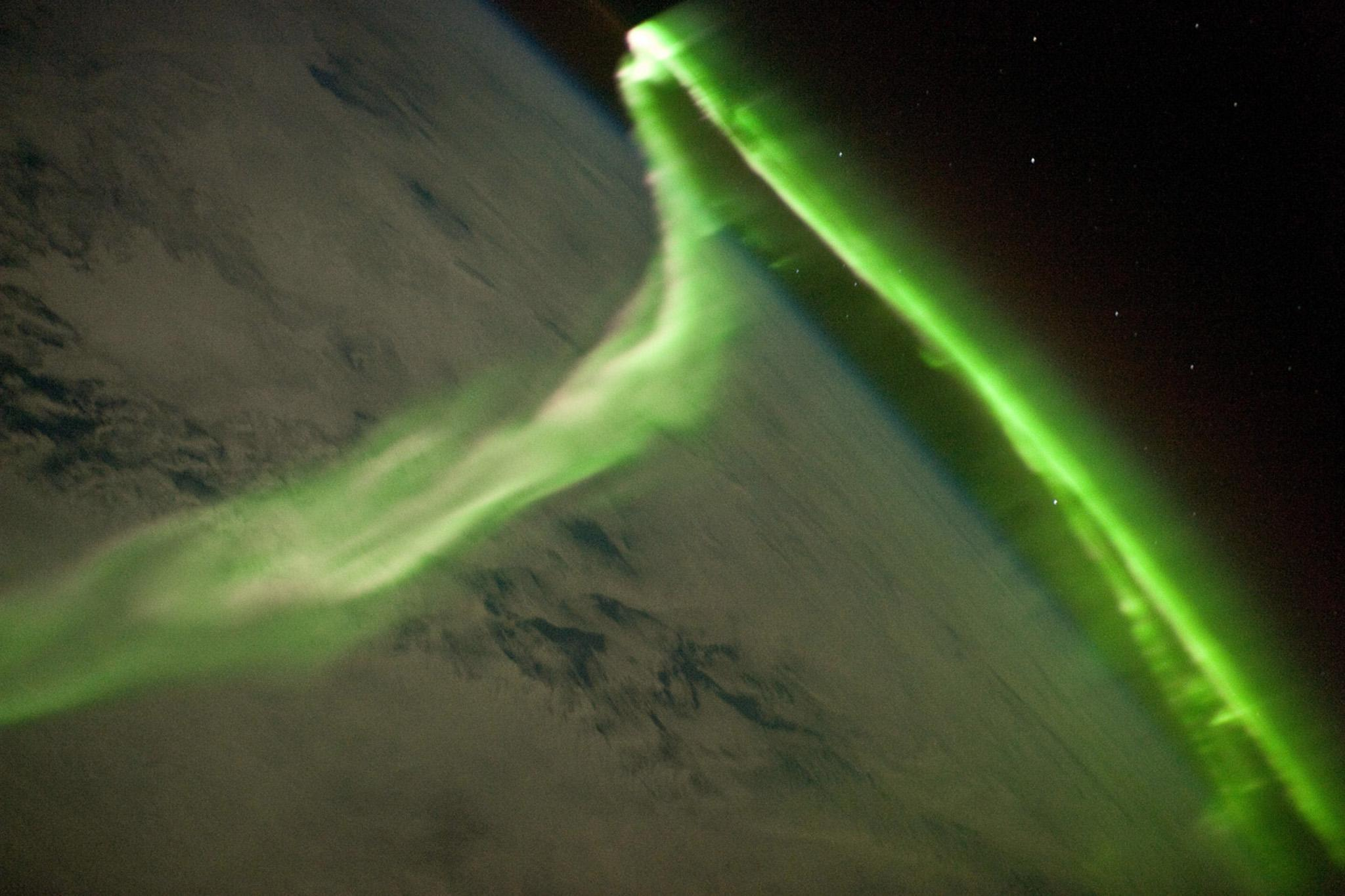 The Aurora Australis is observed from the International Space Station during a geomagnetic storm on May 29, 2010 (AFP Photo/)