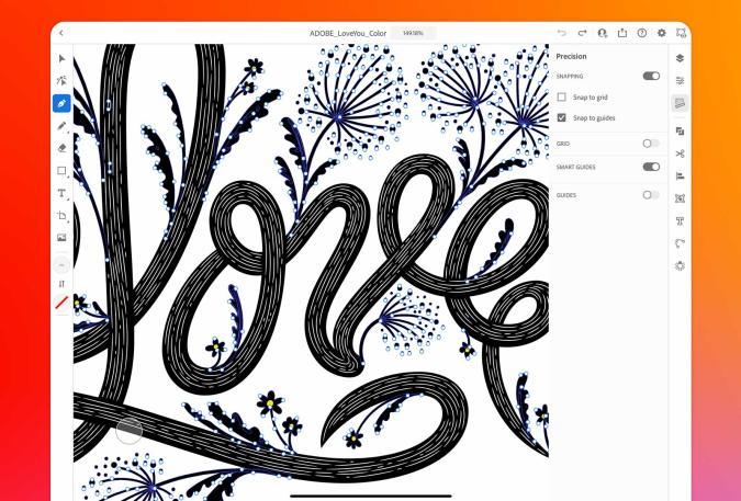 Adobe Illustrator on iPad