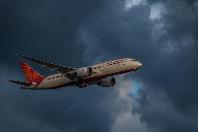 An Air India Boeing 787 ''Dreamliner'' takes off from Hong Kong Airport in Hong Kong, China, on 19 May 2021. Since 20 April 2021, no passengers from India are allowed to land in Hong Kong as a prevention before the raging pandemic in India. (Photo by Marc Fernandes/NurPhoto via Getty Images)
