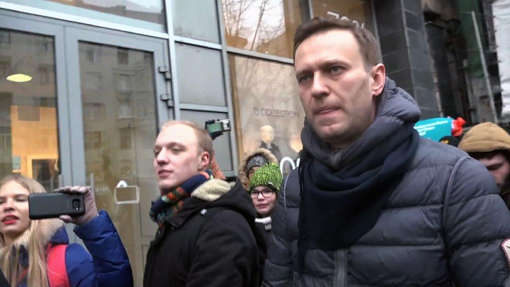 Alexei Navalny is seen in Russia as the only politician with the stamina to take on President Vladimir Putin, but he is banned from standing in March's election (AFP Photo/Alexandra Dalsbaek)