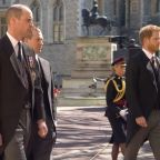 Prince William & Prince Harry Publicly Reunite For First Time In A Year At Philip's Funeral