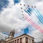 Red Arrows flypast VJ Day 2020: Where and when to watch the display today