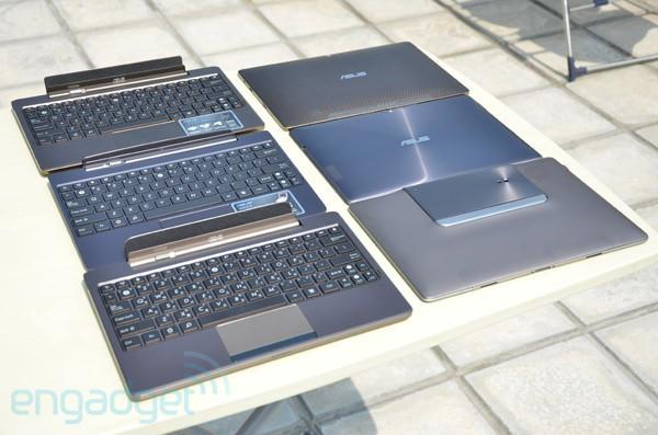 ASUS PadFone, Transformer and Transformer Prime hang out under the sun