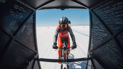 Mother-of-three becomes fastest human being on a bike at 183.9mph