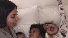 Kim Kardashian sparks mom debate about pacifiers