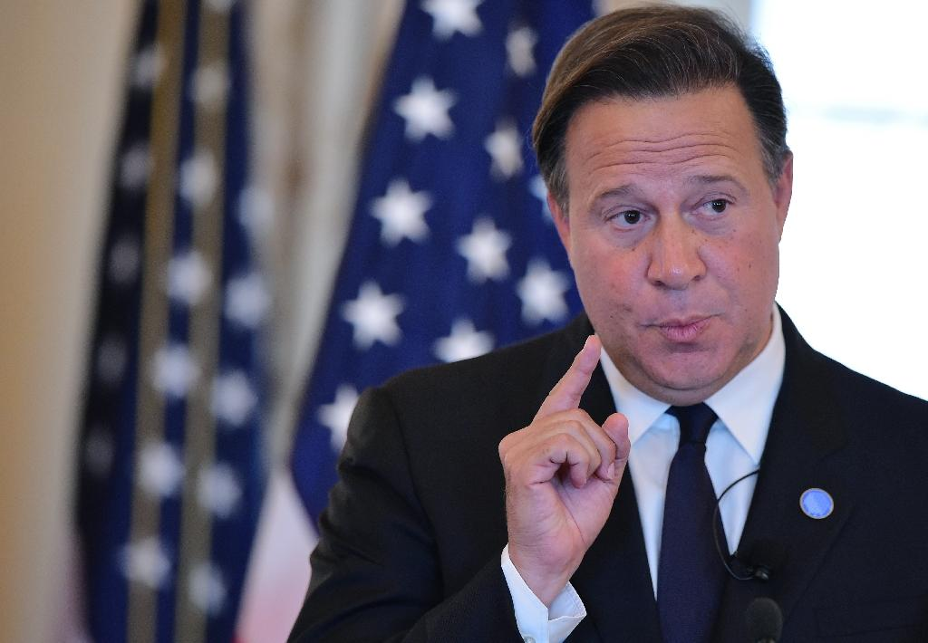 Panama's President Juan Carlos Varela on May 3, 2016 in Washington, DC