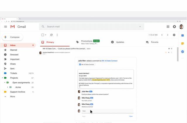 Google's AMP tech makes Gmail more interactive