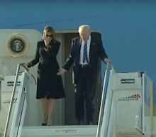 Melania Trump appears to reject Donald Trump's invitation to hold hands for second day in a row
