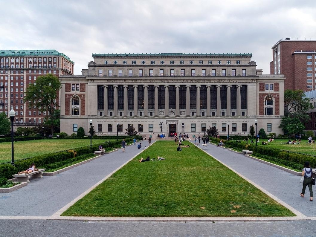A picture of Columbia University on the Upper West Side of Manhattan.