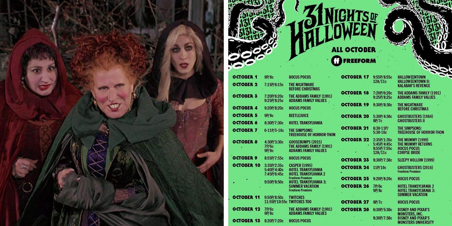 31 Days Of Halloween Line Up 2020 Freeform Just Released Its '31 Nights of Halloween' Schedule With