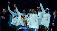 Raptors celebrate NBA championship at home opener