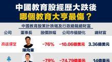 【行業數據】中國教育股經歷大跌後,哪個教育大亨最傷?