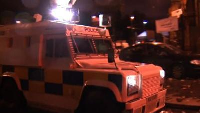 Raw Video: Rioters clash with N. Ireland police