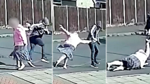 Police hunt thug caught on CCTV snatching a handbag from an elderly woman in the street