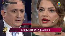 Dolores Fonzi se cruzó con Mariano Obarrio por la despenalización del aborto