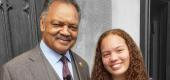 Jesse Jackson with granddaughter Skye (Skye Jackson)