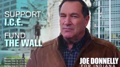 Democratic senator backs border wall in campaign ad