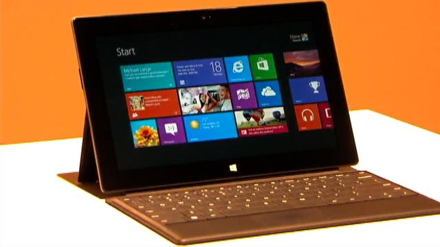 Microsoft Surface unveiled: The first Microsoft-branded Windows tablet.