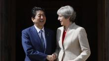UK's May to Japan's Abe: investors will like post-Brexit UK