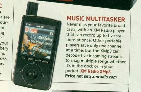 XM's upcoming XMp3 sneaks into latest issue of Popular Science