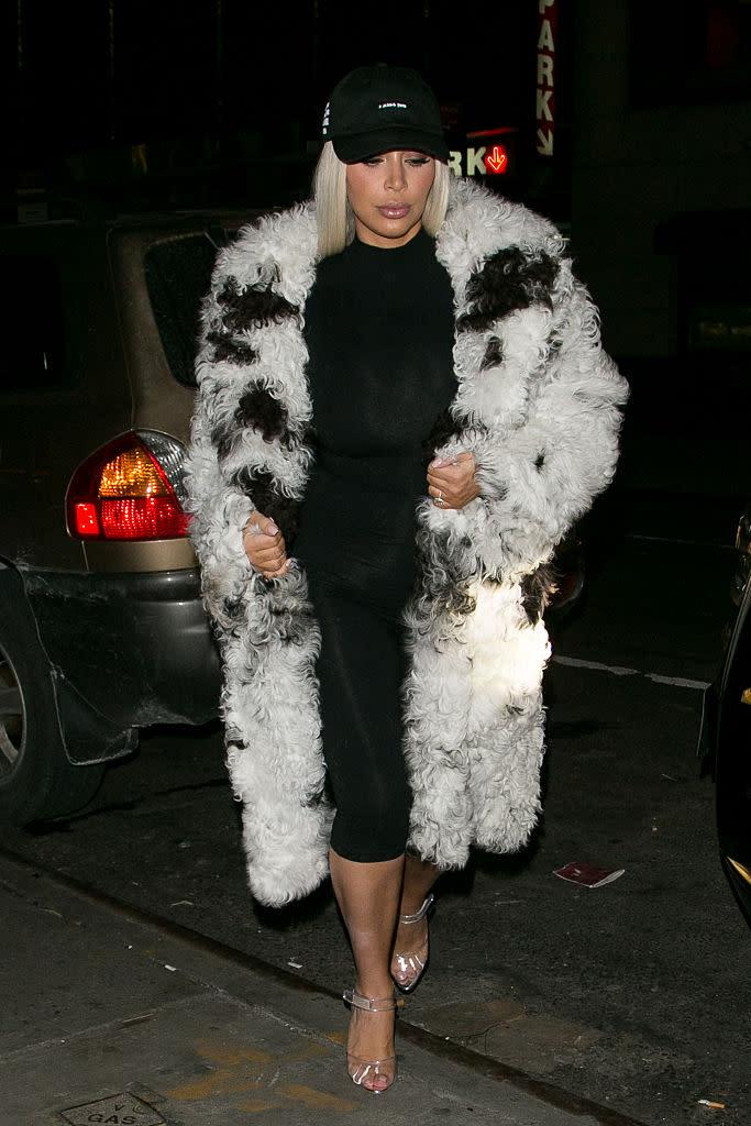 68da43ca4949 Kim Kardashian West wears an Anti Social Social Club dad cap in New York  City. (Photo by Marc Piasecki GC Images)
