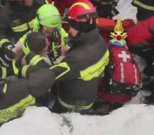 10 survivors located after Italy avalanche, 2 pulled to safety: Fire service