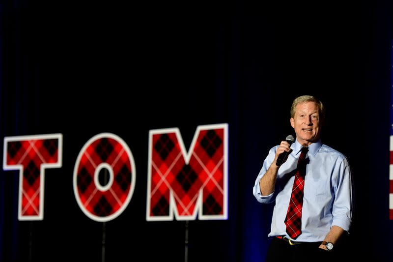 Democratic presidential candidate Tom Steyer holds a GOTV rally in Columbia