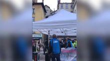 À Grenoble, le stand d'une candidate LREM aux municipales dégradé par des manifestants