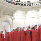 """""""Handmaids"""" Infiltrate The Capitol To Protest The Healthcare Bill"""
