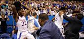 Massive brawl breaks out during a game between Kansas and Kansas State. (Getty Images)