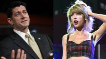 Paul Ryan Cites Taylor Swift to Push Tax Reform
