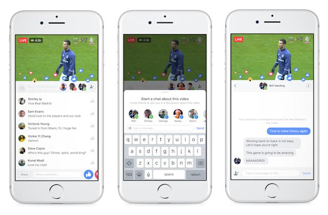 Facebook can keep your trash talk private during live events