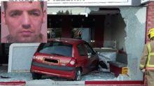 'Manic motorist' smashed car through front of takeaway restaurant