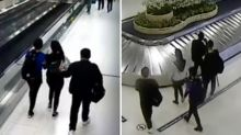 Shocking moment woman kidnapped at Thai airport